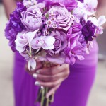 0019 lush purple bridesmaid bouquet by Floral Theory