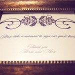0057 guest book sign in bronze picture frame