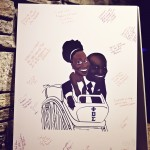 0058 bride and groom guest book caricature drawing by los angeles artist jon vee