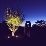 0069 highlands country club oakland ca bride and groom kissing photo at sunset by sheila garvey photography