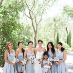 010 light blue bridesmaids dresses at Villa Toscana Lafayette CA wedding venue by J Squared Events and Gladys Jem Photography