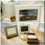 043 DIY Guest Book of wishes and advice for bride and groom with signage in vintage picture frame by Gladys Jem Photography and J Squared Events