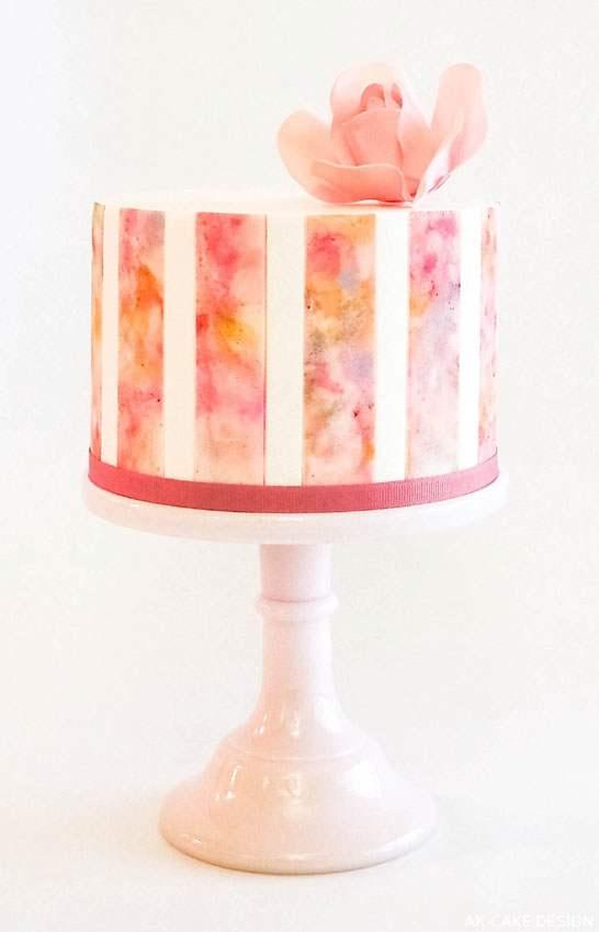 AK Cake Design watercolor wedding cake inspiration