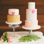 Watercolor Wedding Cake by San Francisco Bay Area Cake Designer Shannie Cakes