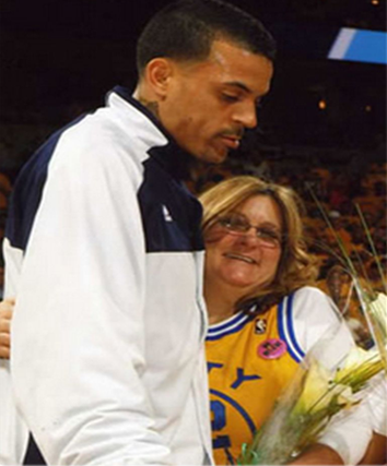 Matt Barnes and mom Ann Catherine Barnes Athletes vs Cancer