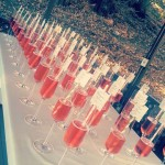 Champagne Escort Card Display by Jonette Jordan of J Squared Events