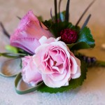040 Pink Lisianthus corsage by Gingerleaf Floral for same sex lesbian wedding at Elliston Vineyards by Lady of Light Photography J Squared Events