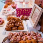 0359 Coffee and Donuts display by A Spoonful of Sugar Cakes San Francisco and J Squared Events at Elliston Vineyards same sex lesbian wedding