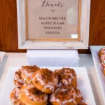 0364 Nice Owl Design custom donut menu for Elliston Vineyards Sunol same sex lesbian wedding by J Squared Events brioche donuts by  A Spoonful of Sugar Cakes San Francisco